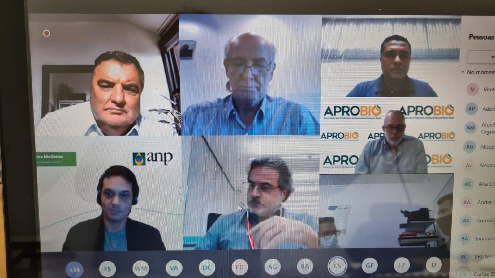 APROBIO participa de reunião técnica com a ANP sobre o aperfeiçoamento das especificações do Biodiesel