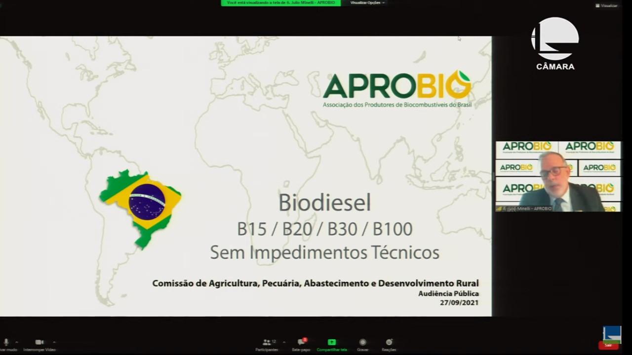 Em audiência, APROBIO destaca introdução segura do biodiesel sempre baseada em testes e no aperfeiçoamento das especificações e desmistifica riscos para o avanço da mistura até no mínimo B20