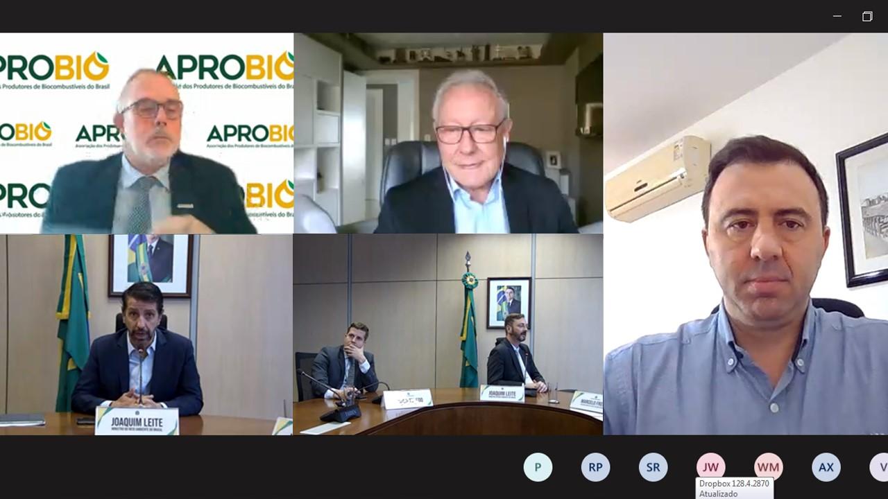APROBIO apresenta importância do biodiesel para a sustentabilidade em encontro com ministro do Meio Ambiente, Joaquim Álvaro Pereira Leite, com foco na COP 26